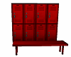 RED LOCKERS AND BENCH