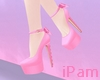 p. pink bow heels