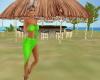 Green beach goddess