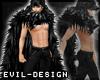 #Evil Black WolfFur Cape