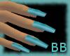 [BB] Blue Aqua Nails