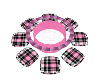 Pink Plaid Chat Table