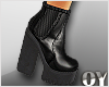 *D* Leather Boots Black