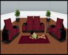Wine Couch Set