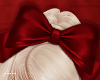 f. red cheer bow