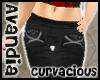Av~Black Zip Capris (LG)