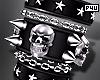 -P- Skull Spike Bracer L