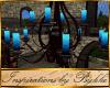 I~Royal Blue Candelier
