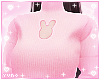 �. Bunny Sweater Pink