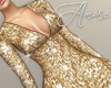 $ Sequin Gold Dress