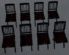 black red wedding seatin