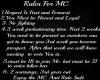 MC Rules Sign