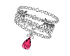 Pink Tear L Bracelet