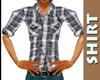Grey Button Plaid Shirt