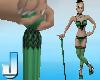 Burlesque Cane - Green