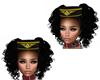 Black Stewardess Hat