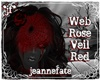 *jf* Web Rose Veil Red
