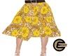 (E) Floral Skirt