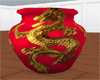 Red chines dragon vase
