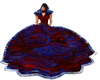 Blue/Red Queen Gown