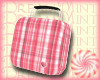 Pink Plaid Lunch Box