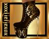 [L] SKULL Gold Boots F