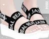 n  Sandals Black Real