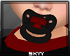 Black and Red Paci