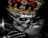 King Skull Art  in Frame