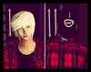 Emo Snapback+White Hair