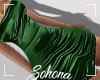 ṩSatin Dress Green M