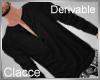 C derv black long top
