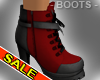 Sexy Red Leather Boots
