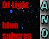 DJ Light blue spheres ad