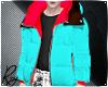 Cyan Neon Puff Coat