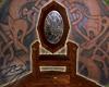 *ZG* Celtic wood throne