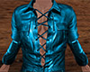 Teal Leather Shirt (M)
