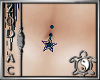 Blues Star Belly ring M
