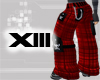 Plaid Punk Pants (Red)