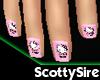 Pink Hello Kitty Nails