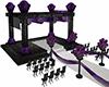 Black Purple Wed Alter