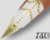 [zuv]white gold nails