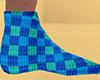 Teal Socks Plaid (M)