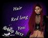 Hair Red long Yosi