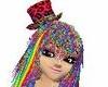 Rainbow Cheetah Top Hat