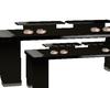 mac makeup display table