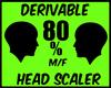 {J} 80% Head Scaler
