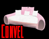 Pink White Love Couch