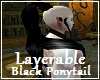Layerable Black PonyTail