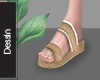 Yute Wedges Sandals